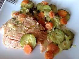 cuisiner filet de saumon filets de saumon carottes et courgettes recette iterroir