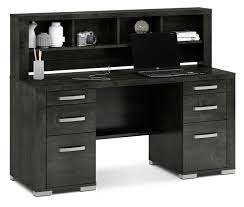 Black Writing Desk With Hutch by Desks The Brick