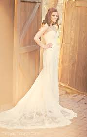 Romantic Long Lace Country Wedding Dress