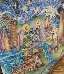 The Magical City Coloring Book For Adults Page 1 London Panorama Coloured With