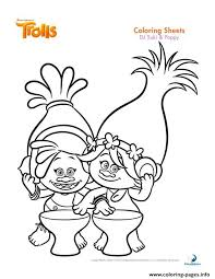 Dj Suki Poppy Trolls Coloring Pages