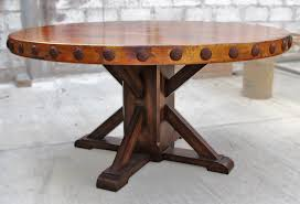 Round Rustic Dining Table Kitchen Idea Pertaining To Modern 3