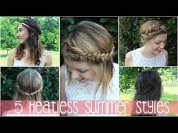 1234 5 Heatless Spring Summer Hairstyles Short Medium Long Hair
