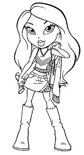 Bratz Dolls Coloring Pages Posing Sweater Games