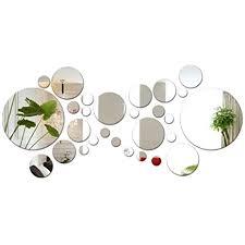 28 stk kreise spiegel wandaufkleber wanddeko wohnzimmer wandtattoo schlafzimmer wandsticker rund wandbild wandbilder wand aufkleber dekoration sticker