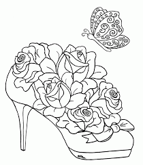 Detailed Coloring Pages For Adults Flowers