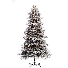 Pre Lit Incandescent Flocked Birmingham Fir Artificial Christmas Tree With 400 UL