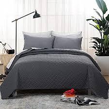 bedsure tagesdecke 200x220 dunkelgrau schlafzimmer bettüberwurf 200 x 220 cm für bett wohndecke aus mikrofaser mit ultraschall äht als