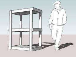 how to build shelving for extra shed storage