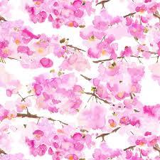 Cherry Blossom Curtain Panels by Fumiko Wallpaper Cherry Blossom Design Bluebellgray