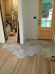 organic transition wood to tile homebuilding