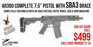 *SALE $80 OFF ENDS MONDAY 3/18* ZAVIAR AR300 Pistol 7.5