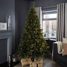 White Christmas Tree Pre Lit 6ft by 6ft 6in Richland Pre Lit U0026 Pre Decorated Christmas Tree