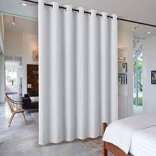 pony raumteiler vorhang multi funktionen trennwand gardinen wohnzimmer schiebevorhänge für schlafzimmer büro vorhang sichtschutz ösenschal 1