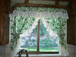 Kitchen Curtain Ideas Diy by Kitchen Bay Window Curtain Ideas White Porcelain Double Bowl