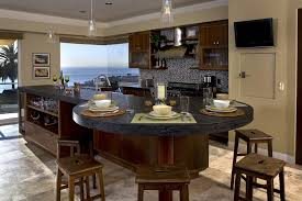 Granite Kitchen Island As Dining Table Decorate With Seating