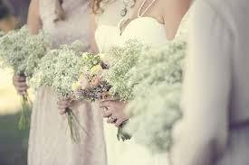 Vintage Wedding Babys Breath Bouquets