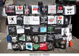 T Shirts On A Stand The Pavement Camden High Street London