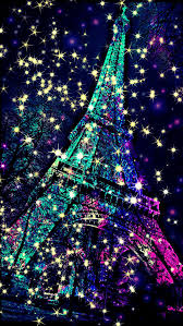 Eiffel Tower sparkle galaxy wallpaper I created for the app