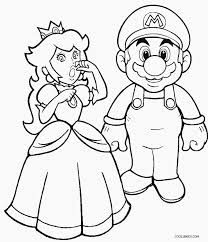 Princess Peach The Beautiful Character Of Mario Series Nintendo Video Games Is Sketched In This Set Coloring Pages Ready To Be Given Color By