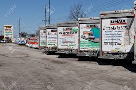 Lafayette - Circa April 2018: U-Haul Moving Truck Rental Location ...