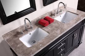 Double Sink Vanity Top by Adorna 61