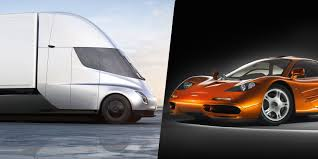 100 Semi Truck Pictures How Teslas Electric Was Inspired By Elon Musks McLaren F1