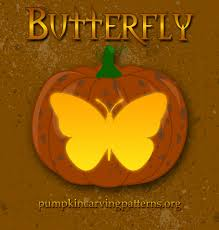 Scary Pumpkin Carving Stencils by Butterfly Pumpkin Carving Patterns