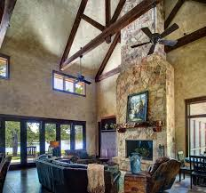 Ranch Style By The Lake Rustic Living Room