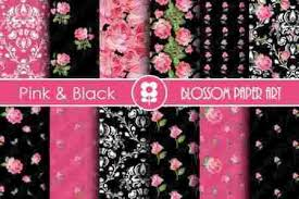 The Graphics Monarch Digital Damask Scrapbook Paper Design Download Free Backgrounds Black And White Spots Pink