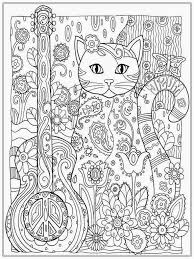 Cat Coloring Pages For Adults Within To Print