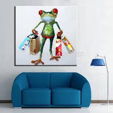 handgemalte wandbilder bild ölgemälde auf leinwand qualität gemälde der frosch einkaufen dekoration für wohnzimmer