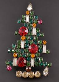 Weiss 6 Candle Christmas Tree Pin