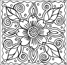 Flower Coloring Free Pages For Kids