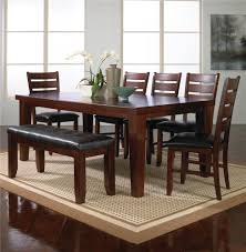 7 Piece Dining Table Set W 5 Chairs 1 Bench