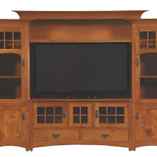 Handmade Winchester Bridge Wall Unit Entertainment Center In Rustic Quartersawn White Oak By Walnut Creek Furniture