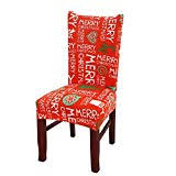 Merry Christmas Spandex Stretch Dining Room Chair Covers Kitchen Decoration Festive Favor For