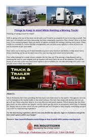 100 Renting A Truck Things To Keep In Mind While Renting A Moving Truck R5 Solutions
