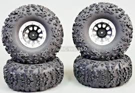 100 Rc Truck Wheels RC 22 BeadLock Rims Silver
