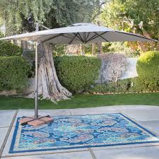 Square Patio Umbrella With Netting by Coral Coast 11 Ft Steel Offset Patio Umbrella With Detachable