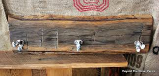 Rustic Coat Hook Reclaimed Wood Barnwood Rust