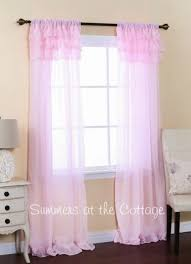 Light Pink Ruffle Blackout Curtains by Appealing Light Pink Ruffle Curtains And Light Pink Ruffle Bottom