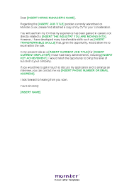 Free Cover Letter Templates Career Change