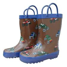 100 Mighty Trucks Shop Brown Monster Toddler Boys Rain Boots 510 Free