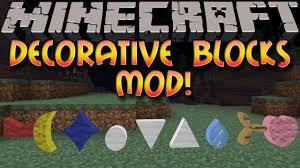 Minecraft Mods DECORATION BLOCKS MOD Special Symbols & More