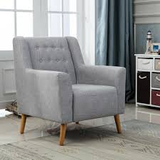 100 Sofa Living Room Modern Linen Fabric Tub Chair Armchair Dining