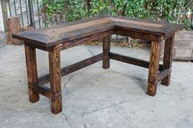 Amusing Rustic Office Desk Wow This Would Look Great In An L Shaped