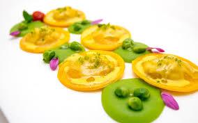 cuisine emulsion baglioni hotels ravioli stuffed with artichoke potatoes and