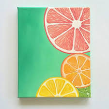 Colorful Wall Art Bright Fruit Painting Citrus Kitchen Decor