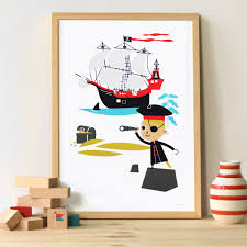chambre garcon pirate poster chambre enfant pirate makii